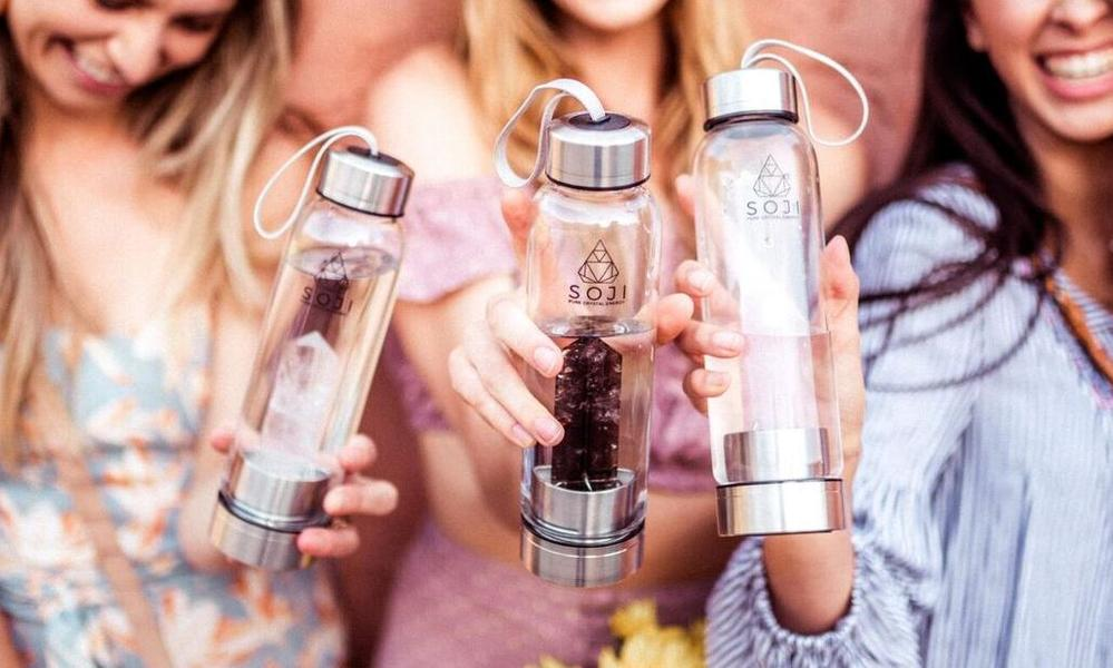 Soji Energy Water Bottle Review - For Making Crystal Elixirs